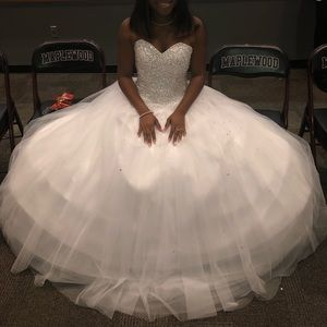 Ball gown prom , or Formal White dress